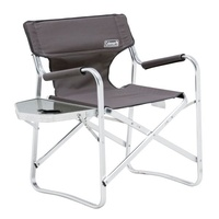 Coleman Flat Fold Director's Plus Chair - Grey