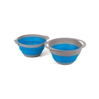 Pop Up Colander and Bowl - Blue